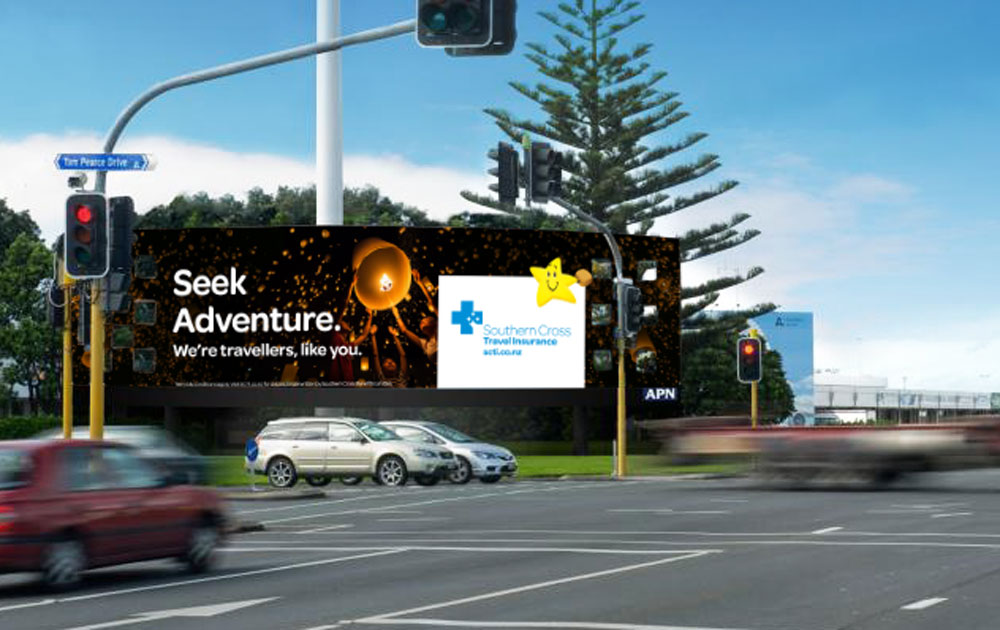 Billboard at Auckland Airport