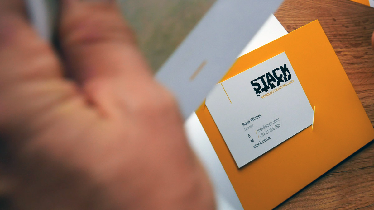 Stack stationery design