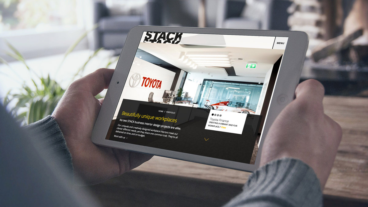 Stack website tablet